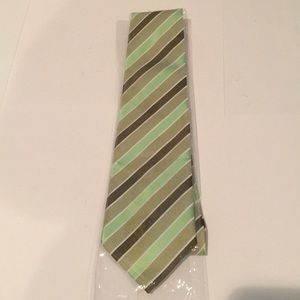 Giorgio Armani men's Green, Brown striped tie New